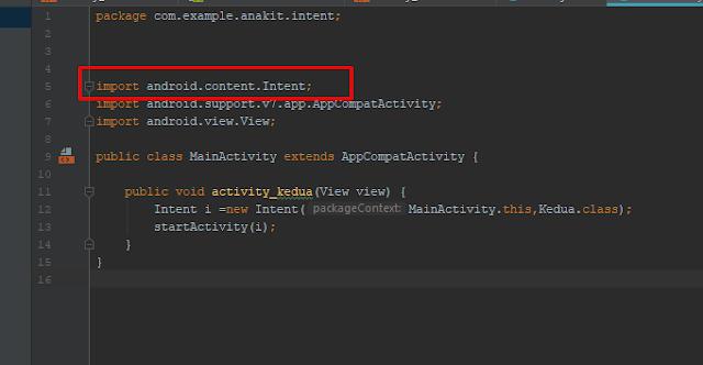 Cara Membuka activity lain dengan Onclick di android studio