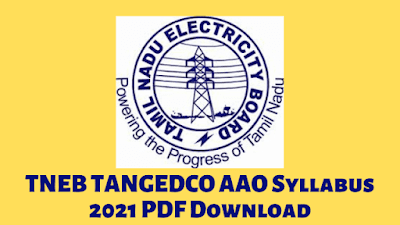 TNEB TANGEDCO AAO Syllabus 2021 PDF Download Exam Pattern