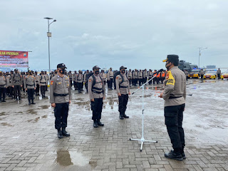 Pimpin Apel Pergeseran Pasukan Pam TPS, Kapolres Pelabuhan Tekankan Ini