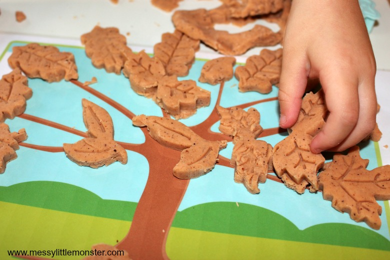 autumn activities for preschoolers usinga no cook playdough