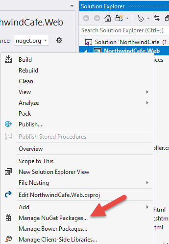 Managing Nuget Packages With Visual Studio
