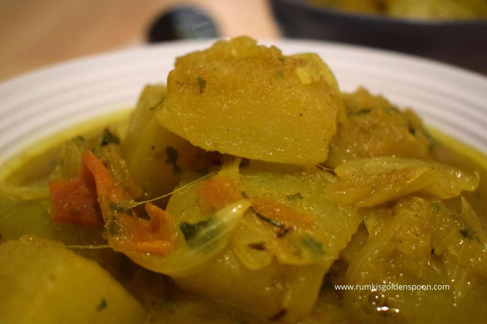 Vegetarian Marrow Recipes, Marrow Fry, marrow recipes, marrow curry, Vegetable Curry, Rumki's Golden Spoon