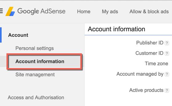 akun Google AdSense informasi