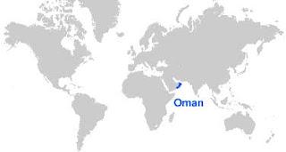 Gambar Peta letak Oman