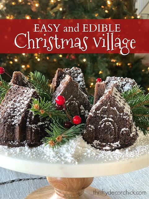 cake gingerbread village pan