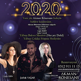 Akman Rönesans Ankara Yılbaşı Programı 2020 Menüsü