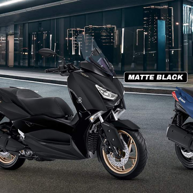 Pilihan warna baru yamaha xmax 250 tahun 2020 Matte Black Maxi Signature