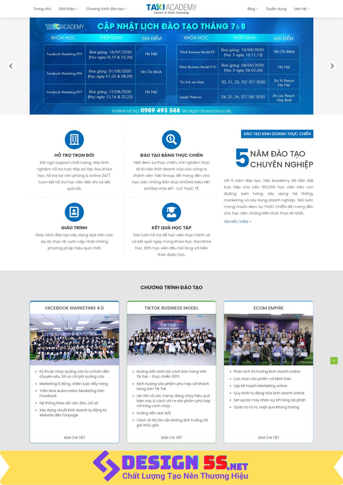 Mẫu website landing page dịch vụ marketing online tổng hợp - Ảnh 1