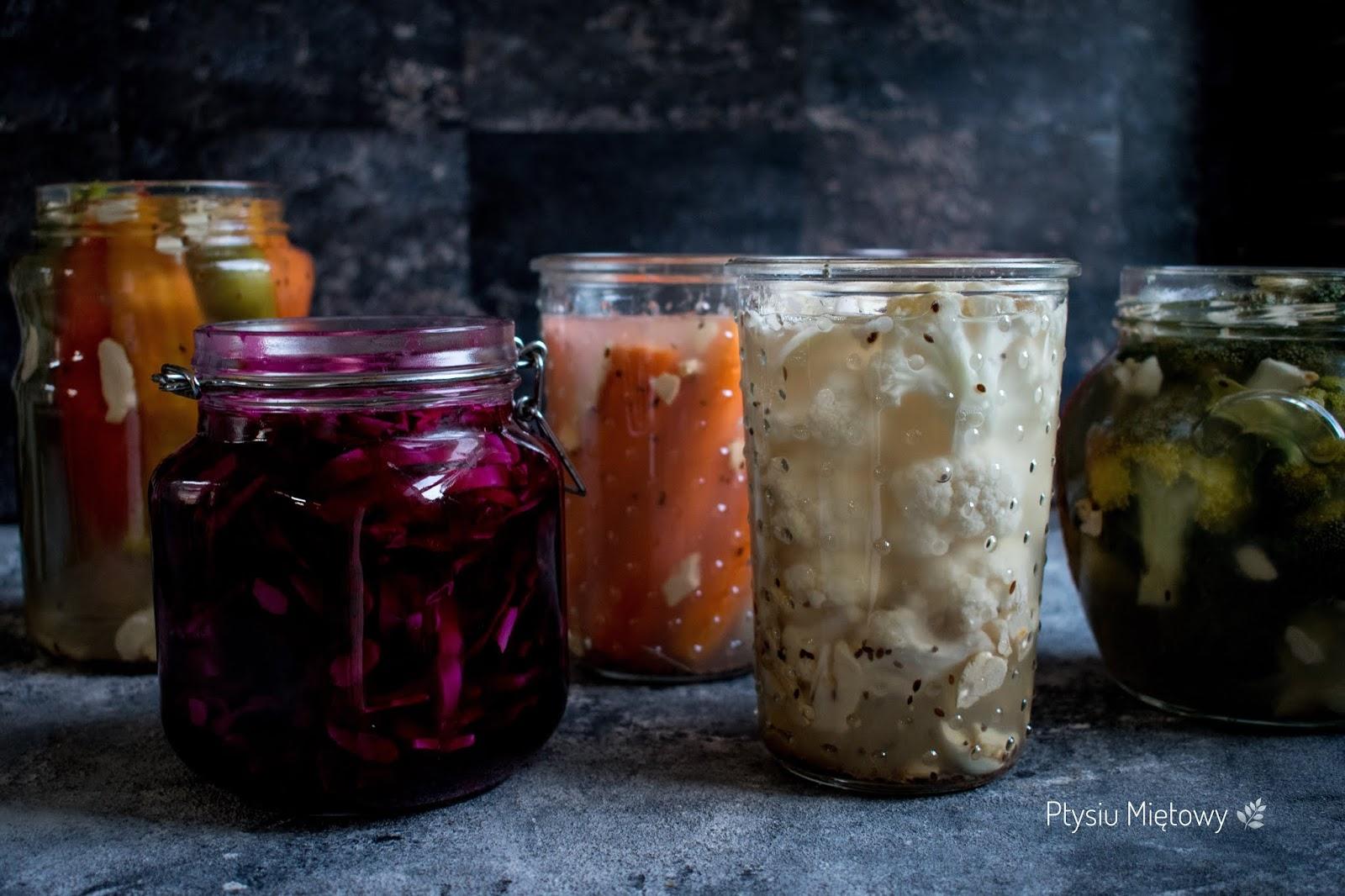 kiszone, warzywa, ptysiu mietowy