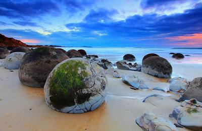 Playa huevos de dragón - Nueva Zelanda