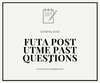 FUTA POST UTME PAST QUESTIONS