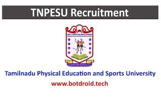 TNPESU Recruitment jobs 2021, Tamilnadu Government Jobs