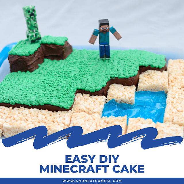 DIY Minecraft cake tutorial