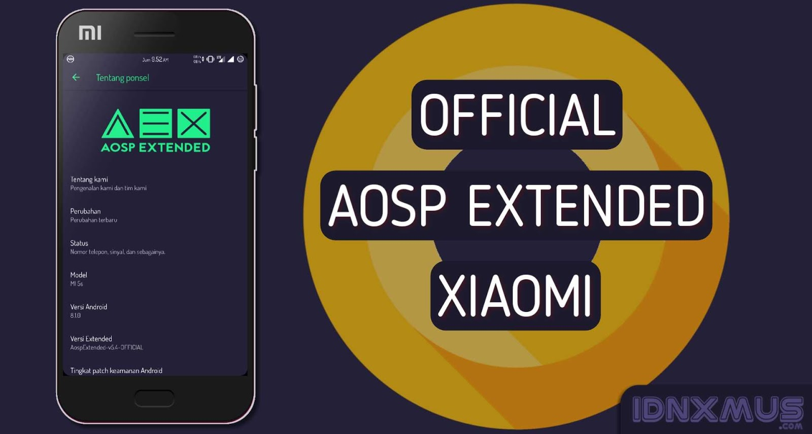 AospExtended 5.8 Oreo 8.1