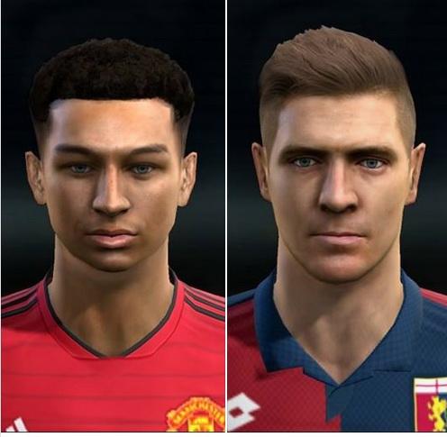 PES 2013 Jesse Lingard and Krystof Piatek v2 face by Sjr11facemaker