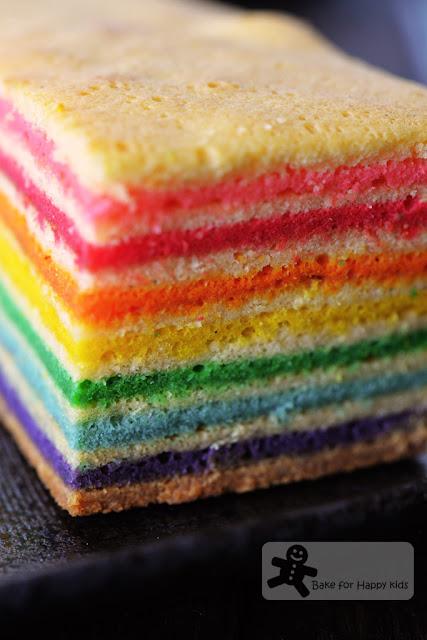 rainbow kek lapis legit spekkoek