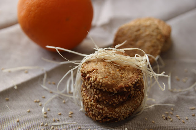 Sablés sésame orange (vegan)