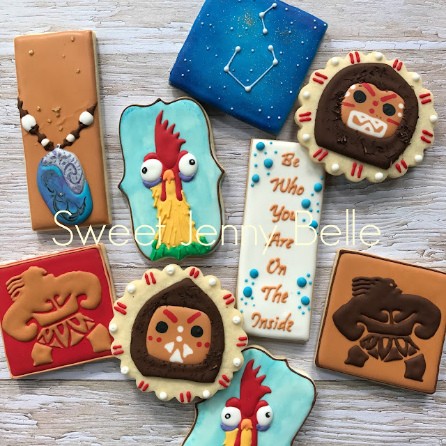 Moana Disney Decorated Sugar Cookies Sweet Jenny Belle