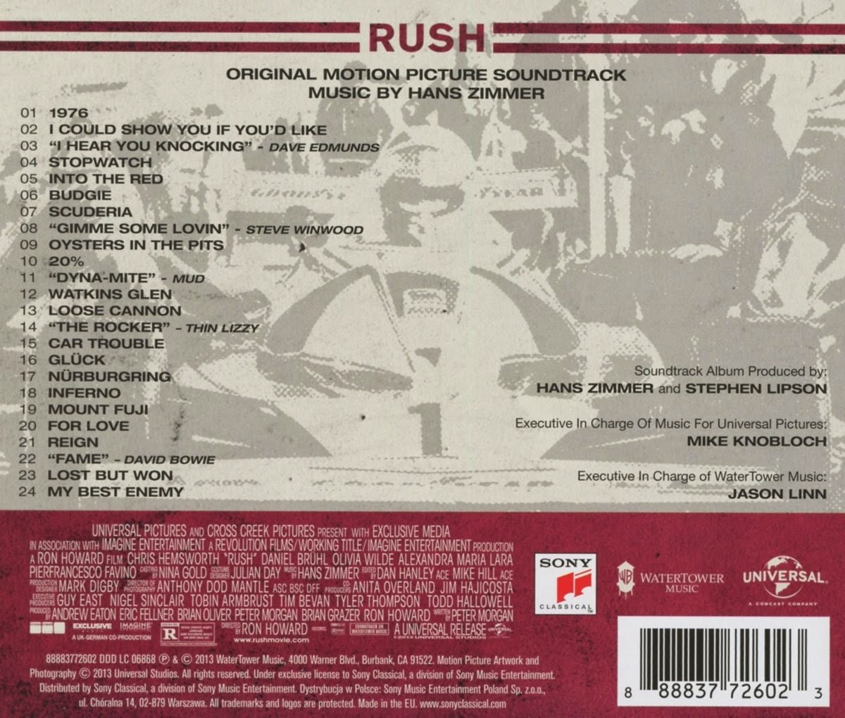 rush soundtracks