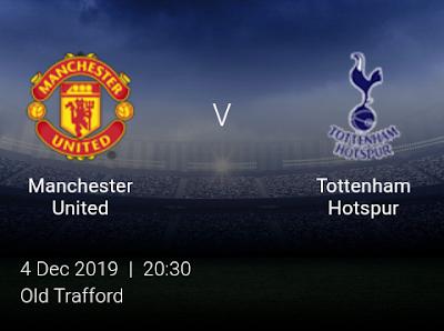 LIVE MATCH: Manchester United V Tottenham Hotspur Premier League 23/11/2019