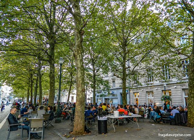 Restaurantes em Bruxelas na Place Sainte-Catherine