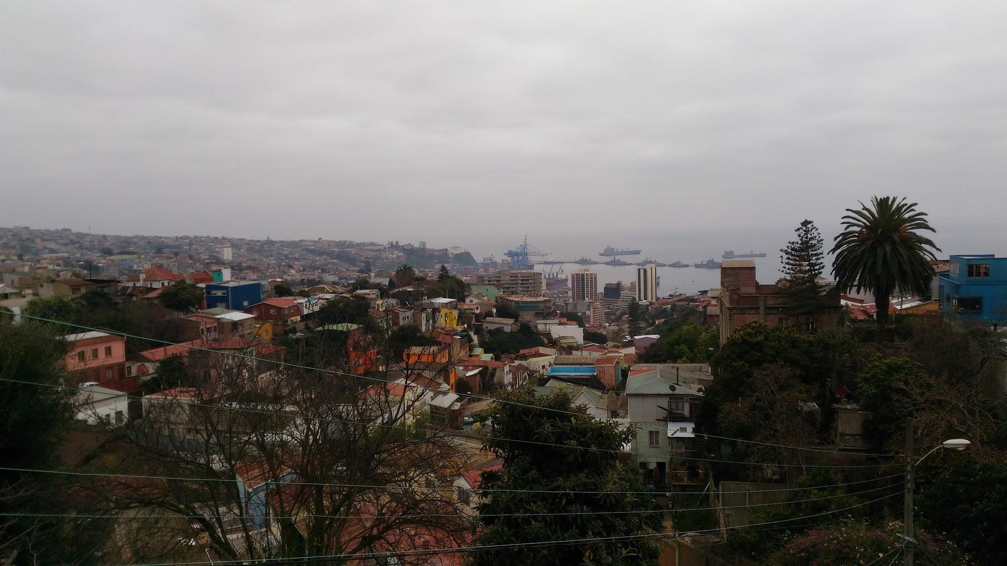 Vistaa de Valparaíso ascensor