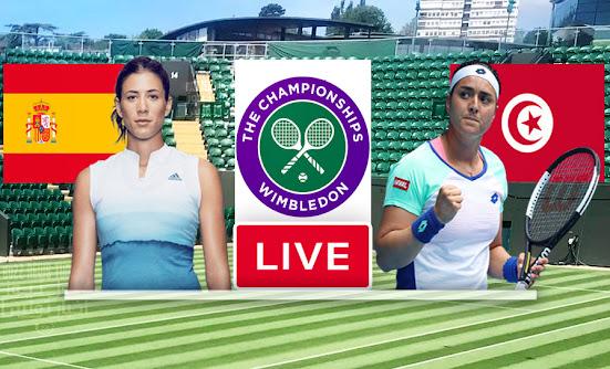Match Tennis Ons Jabeur vs Garbine Muguruza Live Stream In Wimbledon