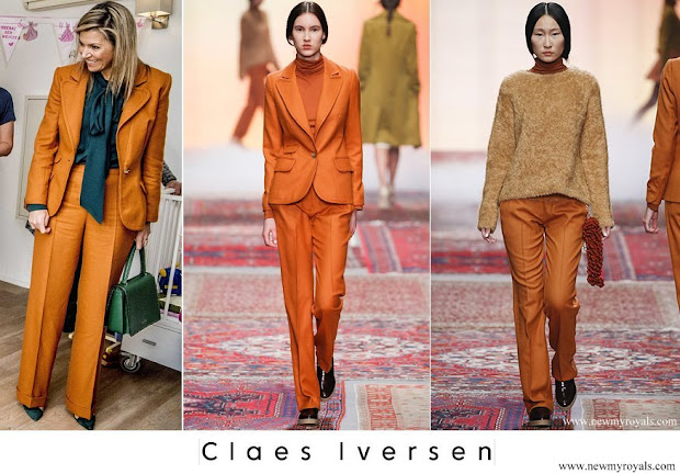 Queen Maxima CLAES IVERSEN Blazer and trousers AW2015 Collection