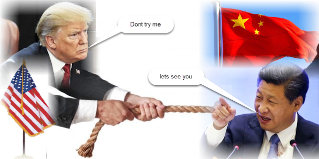 Tug of War between china and us -who's going to be the one who break?