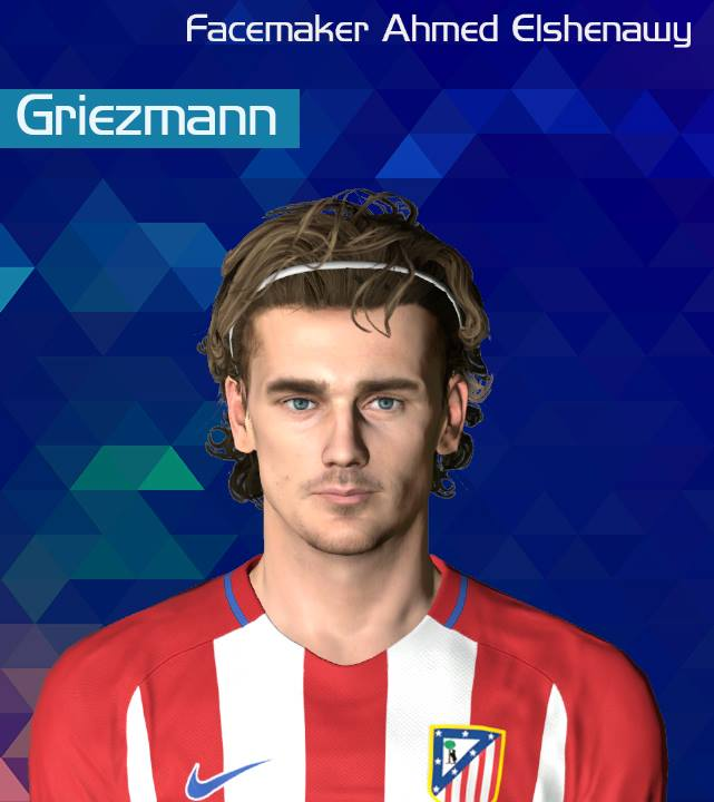PES 2017 Griezmann face by Ahmed El Shenawy