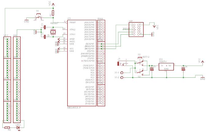 Membuat Skematik Sistem Minimum (sismin) ATmega8535 di Eagle