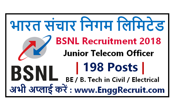 BSNL Recruitment for Junior Telecom Officer (Civil & Electrical)