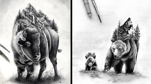 00-Alyse-Dietel-Animal-Drawings-Surrealism-www-designstack-co