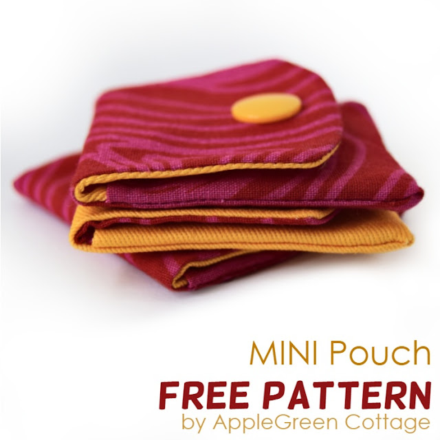 mini pouch for valentine gifts - free pattern