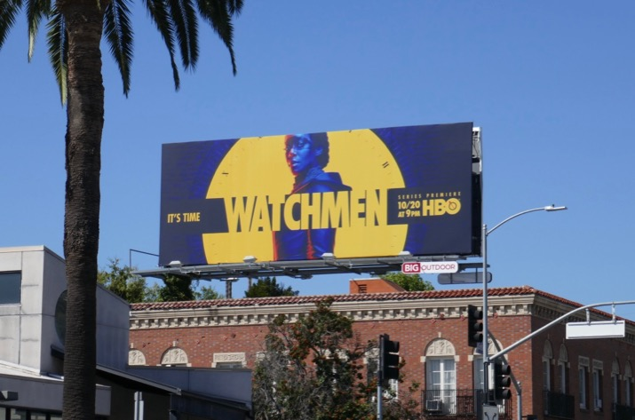 Watchmen series launch billboard
