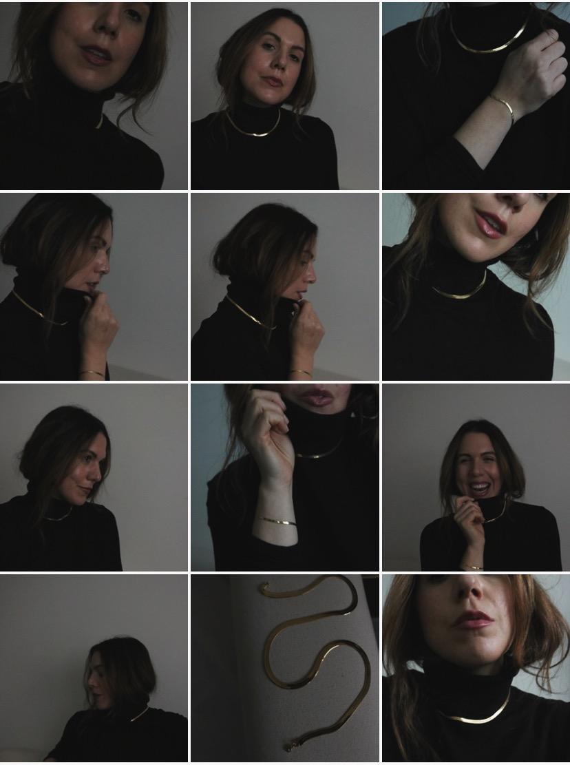 mejuri bold herringbone necklace gold
