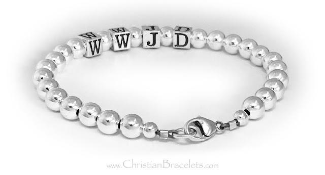 WWJD all .925 sterling silver bracelet