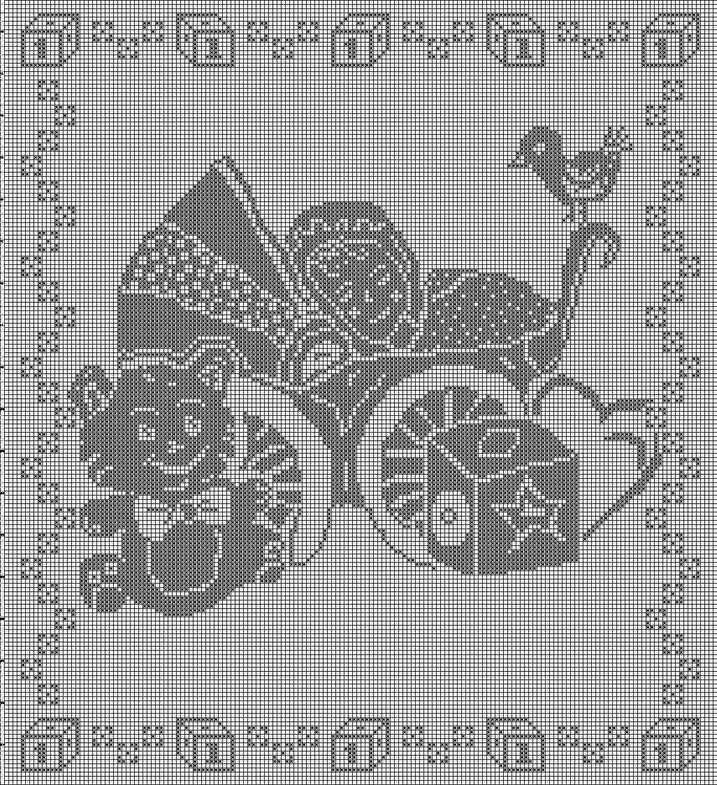 Amato Hobby lavori femminili - ricamo - uncinetto - maglia: Filet DA76