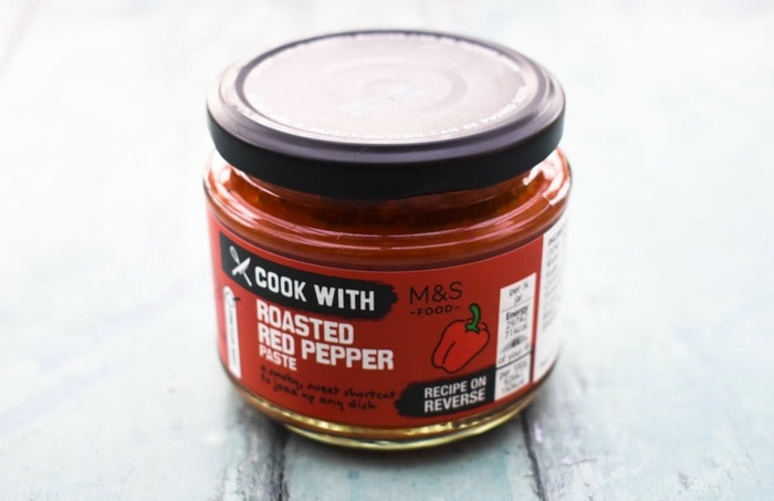 smal jar of red pepper paste