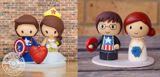 Couple Avengers cake toppers for wedding cake
