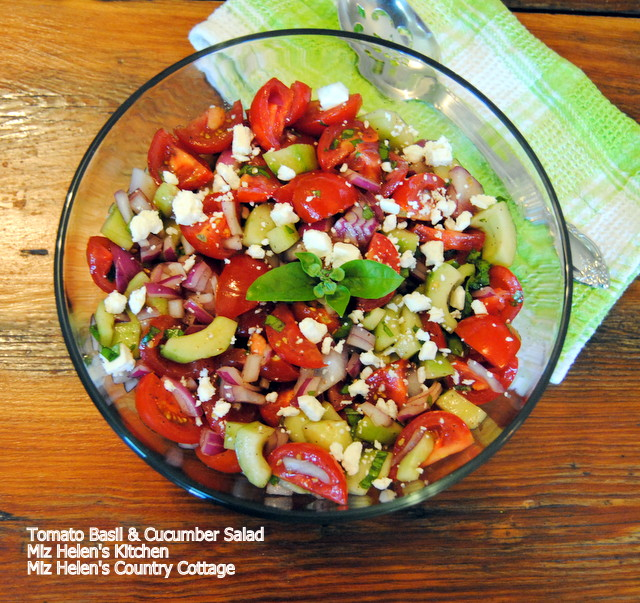 Tomato Basil Salad at Miz Helen's Country Cottage