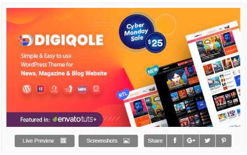 Download Digiqole v1.1.2 - News Magazine WordPress Theme