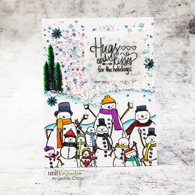 ScrappyScrappy: Unity Stamp Ornament Builders and Holiday inspired - Brisk Salutations #scrappyscrappy #unitystampco #quicktipvideo #youtube #cardmaking #card #stamp #papercraft #brisksalutations #snowman #christmascard #holidaycard #lawnfawn #chunkyglitter #snowman #winterwishes