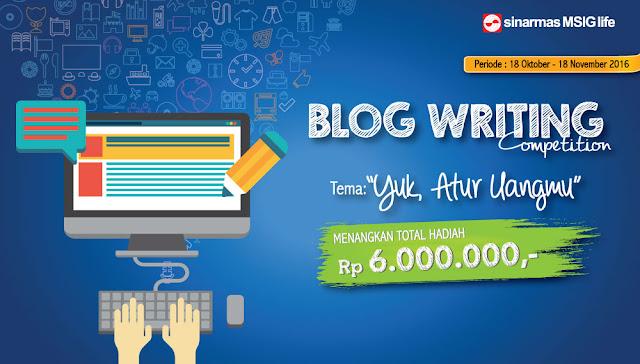 Blog Competition SinarMas MSIG Life Berhadiah Total 6 Juta Rupiah