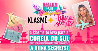 Promoção Coréia do Sul com Klasme e Niina Secrets