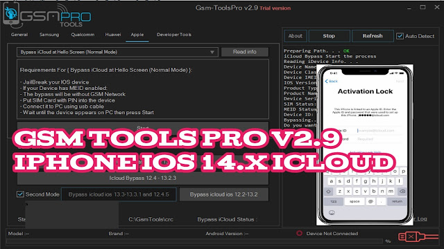 Gsm Tools Pro v 2.9 free download, Samsung frp, iPhone iOS 14.x iCloud Remove