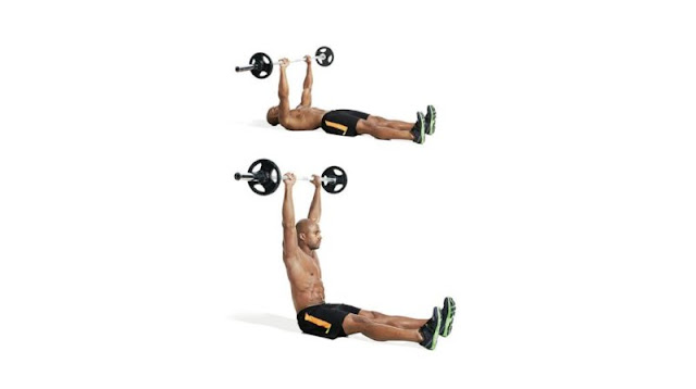 Straight-Leg Barbell Situp