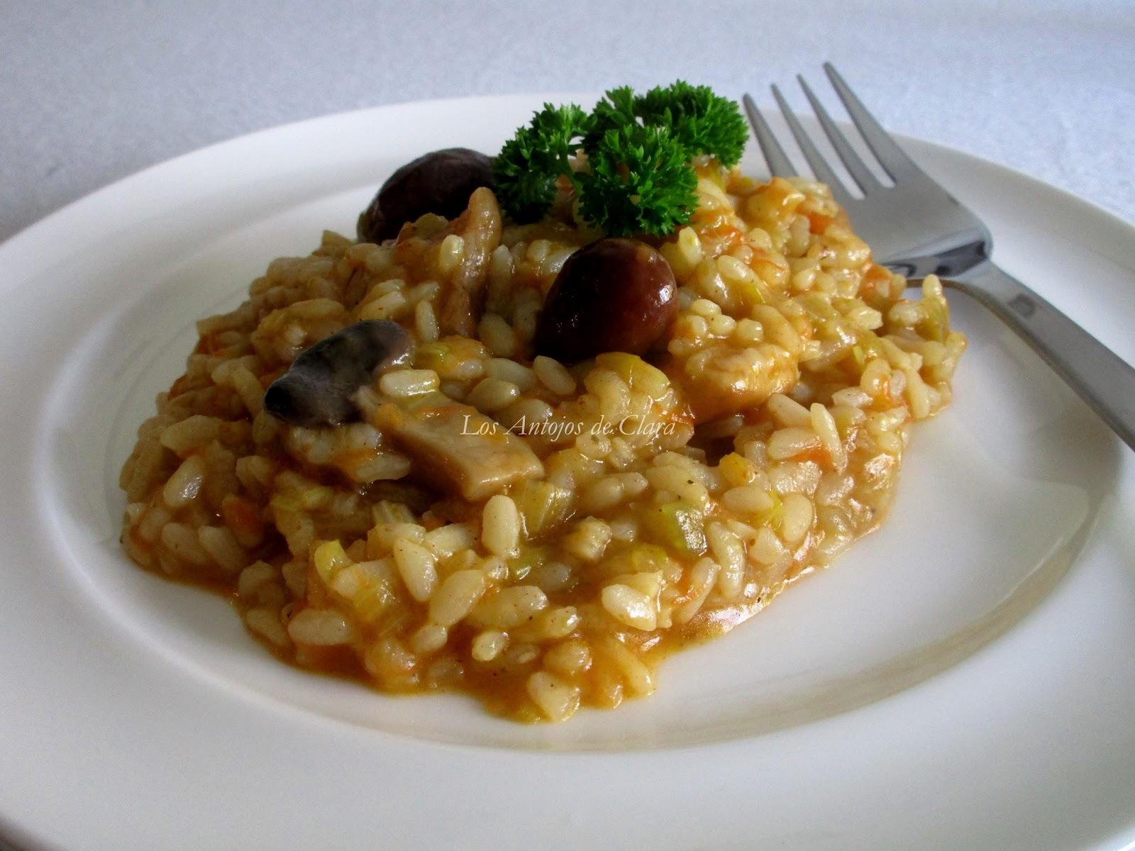 Los antojos de clara arroz meloso con setas y verduras - Arroz con pescado y verduras ...
