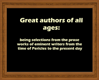 Great authors of all ages:
