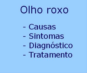 Olho roxo causas sintomas diagnóstico tratamento prevenção